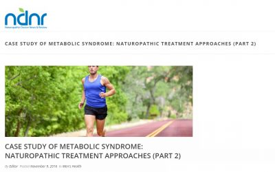 Case Study of Metabolic Syndrome: Naturopathic Treatment Approaches (Part 2)