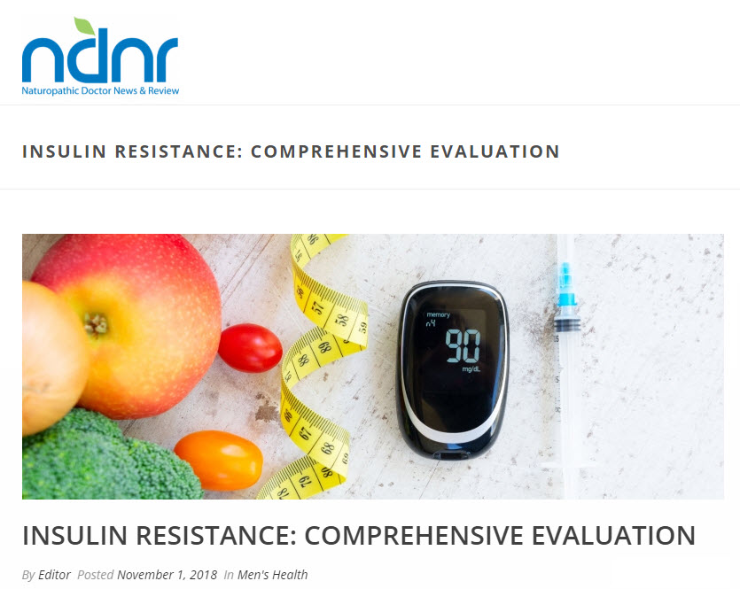 Insulin Resistance: Comprehensive Evaluation